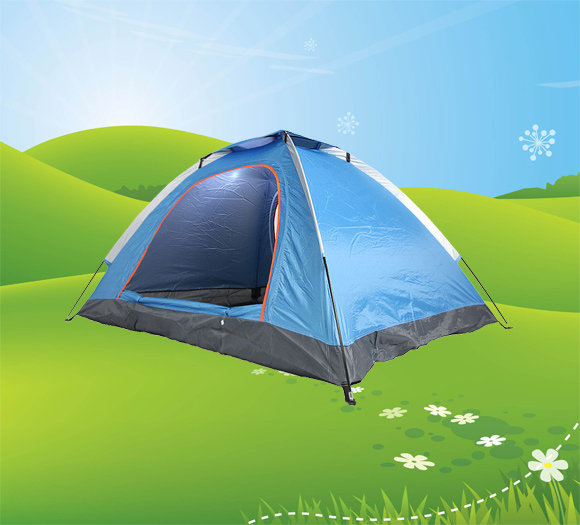 Double door dome tent